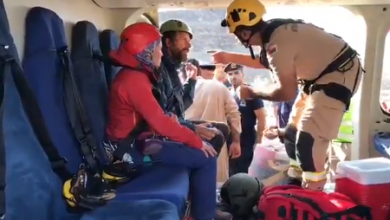 Photo of Civil Defence search team rescues people injured on mountain