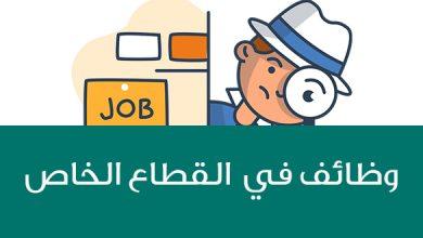 Photo of الإعلان عن 121 فرصة وظيفية في القطاع الخاص
