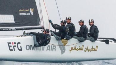 """Photo of اليوم: بحارو قارب الطيران العماني يسعون إلى صدارة """"الجي سي 32 """" للإبحار الشراعي"""